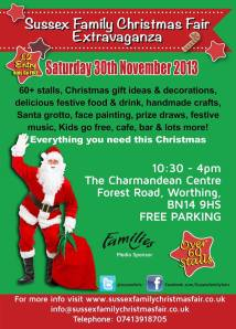 Sussex family Christmas fair show leaflet